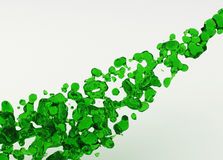 Green Liquid Stream Royalty Free Stock Photo