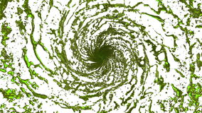 Green Liquid tornado. Beautiful colored juice of whirl. Isolated transparent vortex of liquid like whirlwind 3d stock video