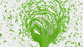 Green Liquid tornado. Beautiful colored paint whirl. Isolated transparent vortex of liquid like whirlwind 3d animation stock video footage