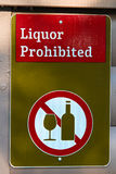 A green liquor prohibited sign Royalty Free Stock Photography