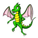 Green little dragon Stock Photo