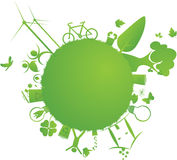 Green little earth Royalty Free Stock Photo