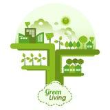 Green Living vector illustration