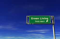 Green Living Freeway Sign stock image