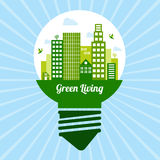 Green living icon Royalty Free Stock Photography