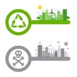 Green living logo. This is green living logo design.  file Stock Photos