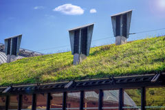 Green Living Roof. Eco Friendly Building Royalty Free Stock Photography