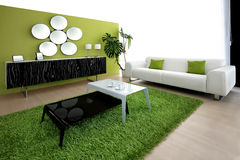 Green living room Royalty Free Stock Photo