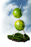 Green living. Sustainable green health living concept isolated Royalty Free Stock Images