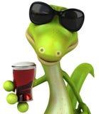 Green lizard. Fun green gecko, 3d generated picture vector illustration