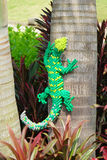 A green lizard made by lego Stock Photo