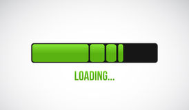Green loading bar illustration design Stock Photo