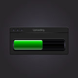 Green loading bar. Vector Stock Photo