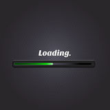 Green loading bar. Vector Royalty Free Stock Photography