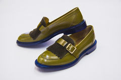 Green Loafers Royalty Free Stock Image