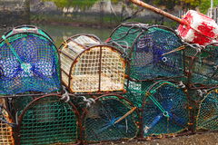 Green Lobster baskets Royalty Free Stock Photos