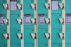 Green locker Royalty Free Stock Photography