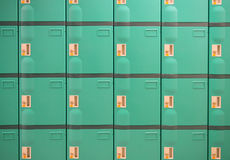 Green Lockers Stock Photos