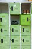 Green lockers Stock Images