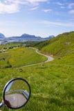 Green Lofoten. Lush green scenery on Lofoten islands, Norway Stock Photography