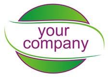 Green logo. Vector illustration on white Stock Image