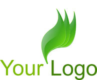 Green logo Stock Photo