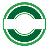 Green logo. Round green logo with blank space in the middle for text Stock Photography