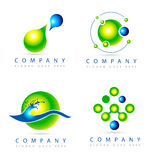Green Logo. A collection of four green &blue logos Royalty Free Stock Images