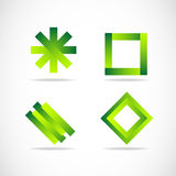 Green logo elements icon set Royalty Free Stock Photo