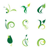 Green logo set Stock Photography