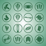 Green logo. Set of icons green logo Royalty Free Stock Image