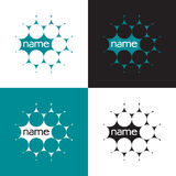 Science logo. Green logo template from the group of circles Stock Photos