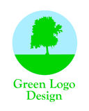 Green logo. Royalty Free Stock Photos