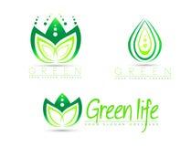 Green Logo Vector. A vector illustration  representing an abstract green leaf logo Stock Photos