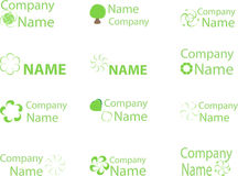 Green logo3 Stock Image
