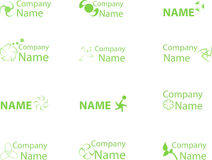 Green logo4. Collection of green icons for design Vector Illustration