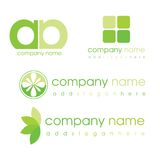 Green Logos Royalty Free Stock Photography