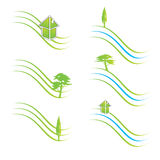 Green logos Stock Photography