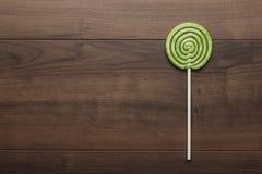 Green lollipop Stock Photo