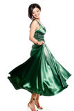 Green long dress Royalty Free Stock Photos