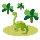 Green long necked dinosaur. Royalty Free Stock Images