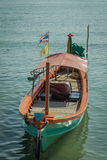 A green long tail boat Royalty Free Stock Photography