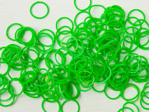 Green loom bands Stock Photo