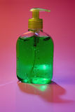 Green lotion bottle Stock Photography