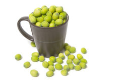 Green Lotus seeds in the coffee cup Stock Photography
