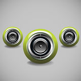 Green loudspeakers Stock Photography