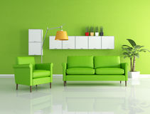 Green lounge Stock Image