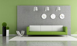 Green lounge Royalty Free Stock Images