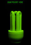 Green low energy bulb. Stock Images