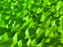 Green Low poly abstract background. Low poly green abstract background Stock Images